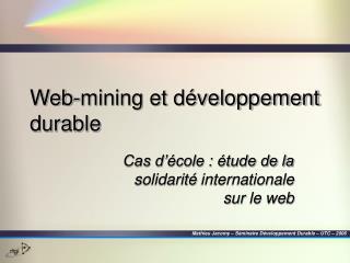 Web-mining et développement durable