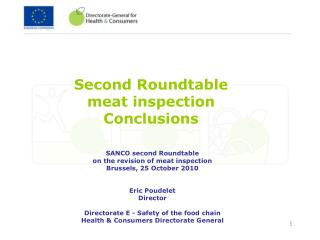 Second Roundtable  meat inspection  Conclusions