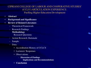Abstract Background and Significance Review of Related Literature : Theoretical Framework