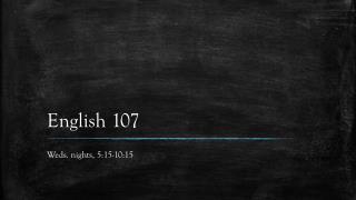 English 107