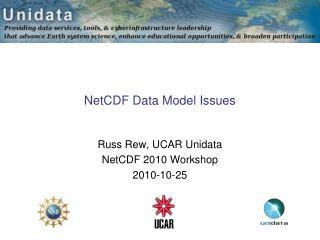 NetCDF Data Model Issues