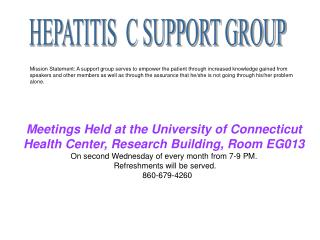 HEPATITIS  C SUPPORT GROUP