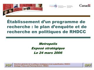 Metropolis Expos� strat�gique Le 24�mars�2006