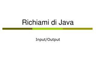 Richiami di Java