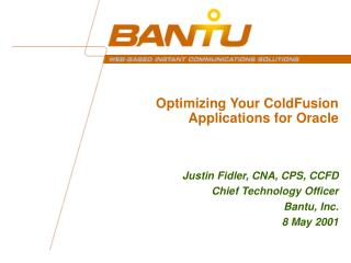 Optimizing Your ColdFusion Applications for Oracle