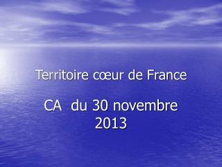 Territoire c�ur de France