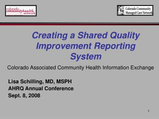 Colorado Associated Community Health Information Exchange