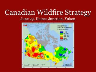 Canadian Wildfire Strategy June 23, Haines Junction, Yukon