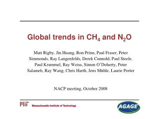Global trends in CH 4  and N 2 O