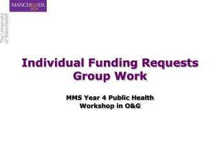 Individual Funding Requests Group Work