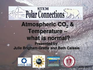 Atmospheric CO 2  & Temperature –  what is normal?