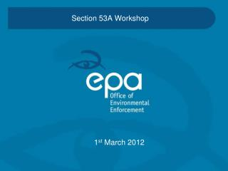 Section 53A Workshop