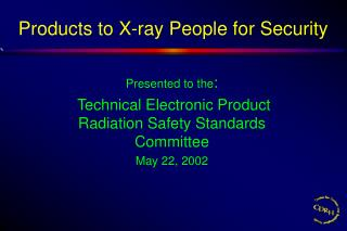 Products to X-ray People for Security