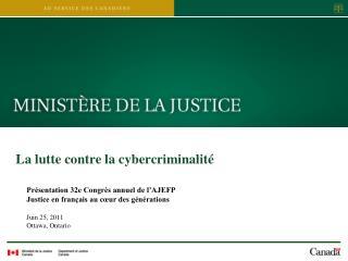 La lutte contre la cybercriminalité