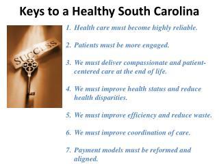 Keys to a Healthy South Carolina