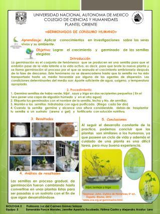 UNIVERSIDAD NACIONAL AUTONOMA DE MEXICO COLEGIO DE CIENCIAS Y HUMANIDAES PLANTEL ORIENTE
