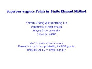 Superconvergence Points in  Finite Element Method