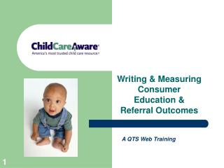 Writing & Measuring Consumer Education & Referral Outcomes