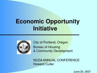 Economic Opportunity Initiative