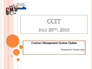 CCIT July 20 th , 2010