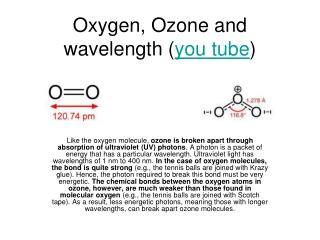 Oxygen, Ozone and wavelength ( you tube )