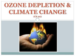 OZONE DEPLETION & CLIMATE CHANGE (Ch 20)