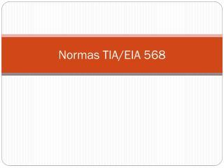 Normas TIA/EIA 568
