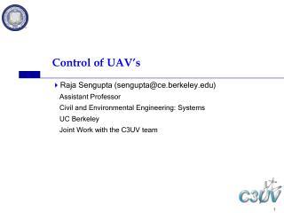 Control of UAV