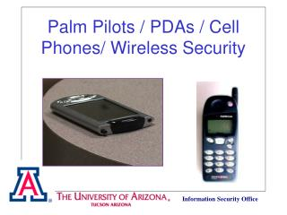 Palm Pilots / PDAs / Cell Phones/ Wireless Security