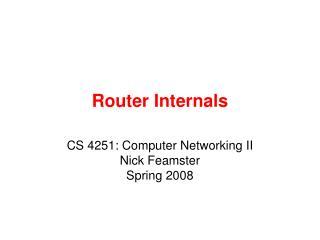 Router Internals