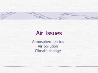 Air Issues