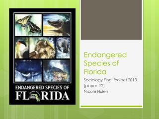 Endangered  Species of Florida