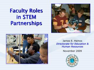 Faculty Roles    in STEM Partnerships