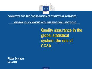 Quality assurance in the global statistical system- the role of CCSA