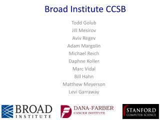 Broad Institute CCSB