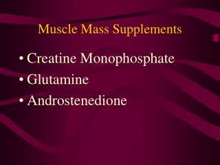Muscle Mass Supplements