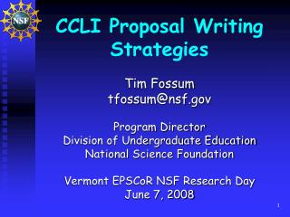 CCLI Proposal Writing Strategies