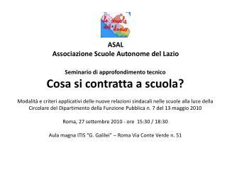ASAL Associazione Scuole Autonome del Lazio