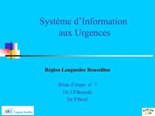 Système d'Information  aux Urgences
