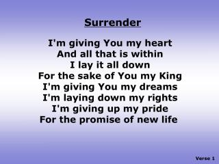 Verse 1
