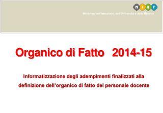Organico  di  Fatto 2014-15