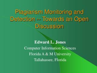 Plagiarism Monitoring and Detection -- Towards an Open Discussion