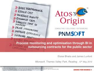 Process monitoring and optimisation through BI in outsourcing contracts for the public sector