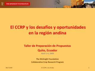 El CCRP y los desafíos y oportunidades en la región andina