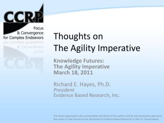 Thoughts on  The Agility Imperative