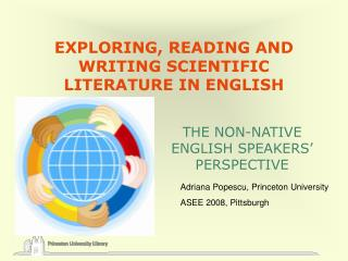 EXPLORING, READING AND WRITING SCIENTIFIC LITERATURE IN ENGLISH