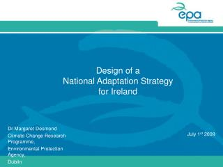Design of a  National Adaptation Strategy  for Ireland