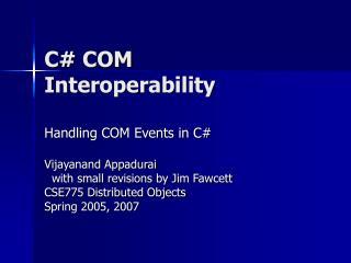 C COM Interoperability