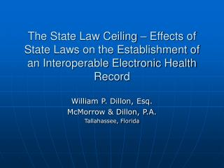 The State Law Ceiling   Effects of State Laws on the Establishment of an Interoperable Electronic Health Record