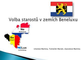 Volba starostů v zemích Beneluxu